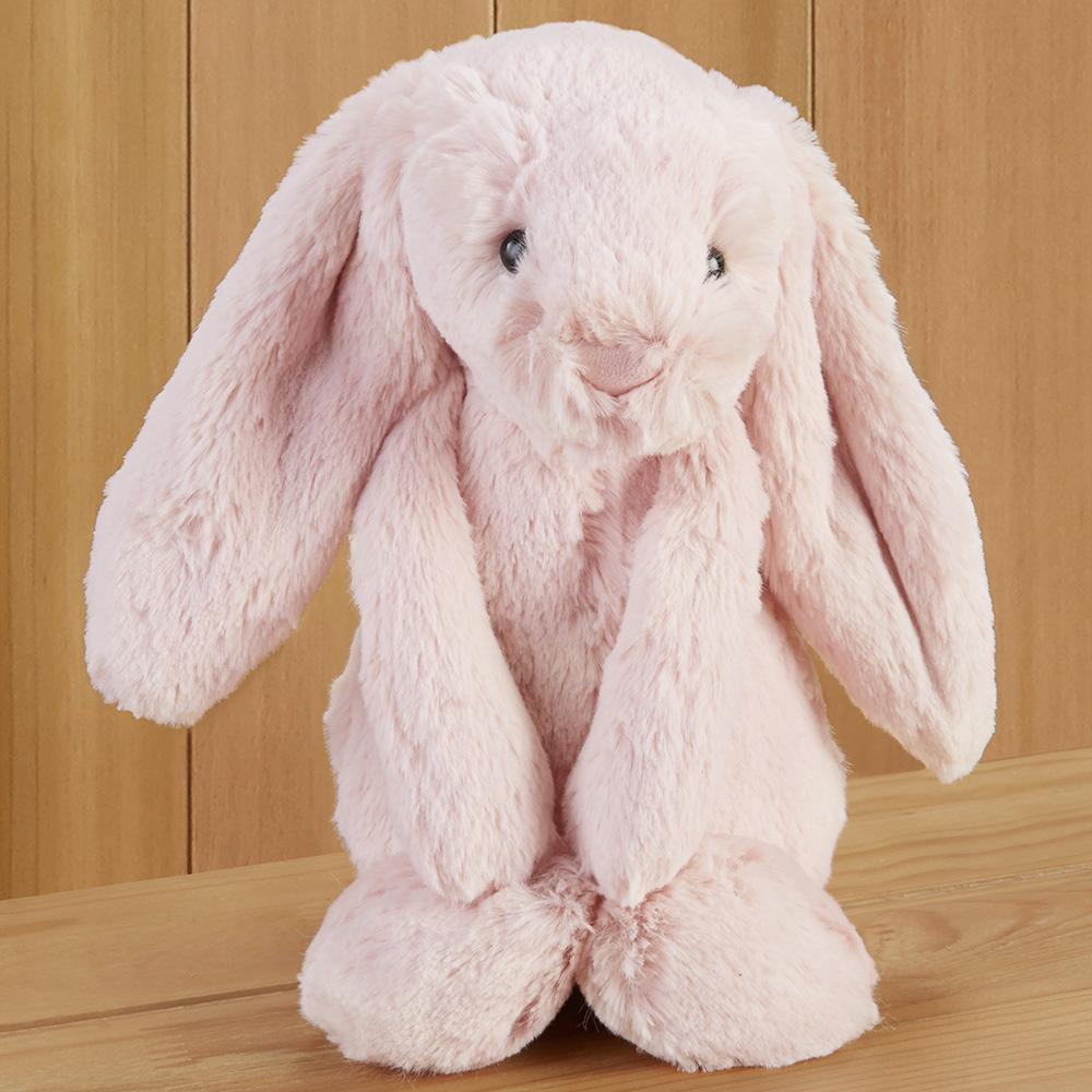 Bashful Bunny Stuffed Animal by Jellycat, Blush