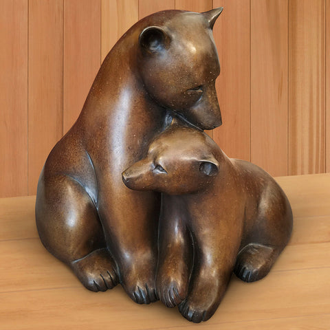 """Arctic Mother with Cub"" Sculpture by Georgia Gerber"