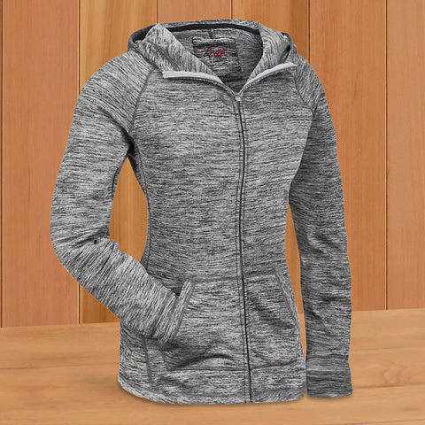 Women's Gray Full-Zip Hoodie