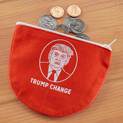 "Fishs Eddy ""Trump Change"" Zippered Coin Pouch"