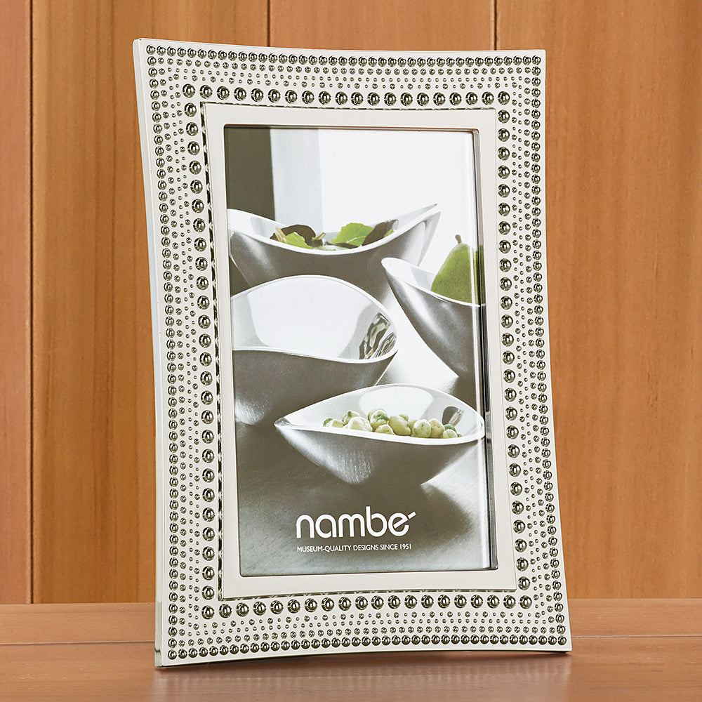 Nambe Beaded Picture Frame