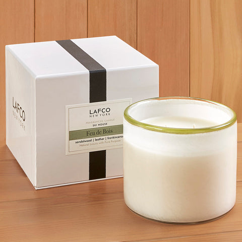 "LAFCO Candle - Feu de Bois ""Ski House"" - 15.5 oz and 30 oz"