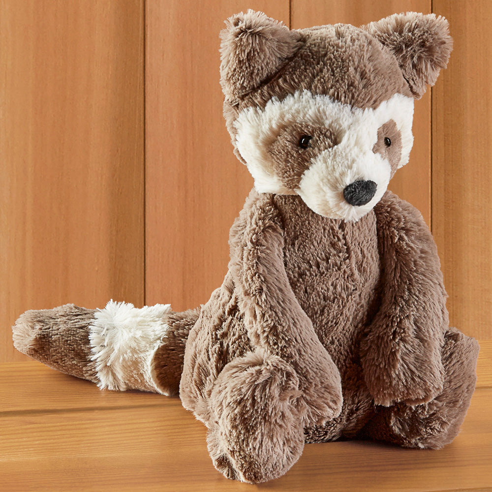 Bashful Raccoon Stuffed Animal by Jellycat