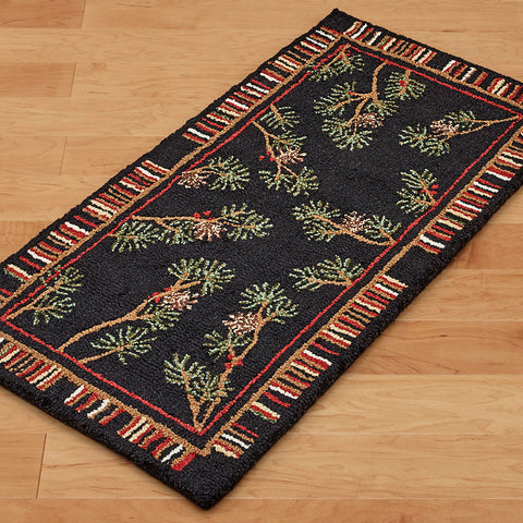 Chandler 4 Corners 2' x 4' Hooked Rug, Mountain Stripes