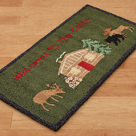 Chandler 4 Corners 2' x 4' Hooked Rug, Welcome to the Cabin