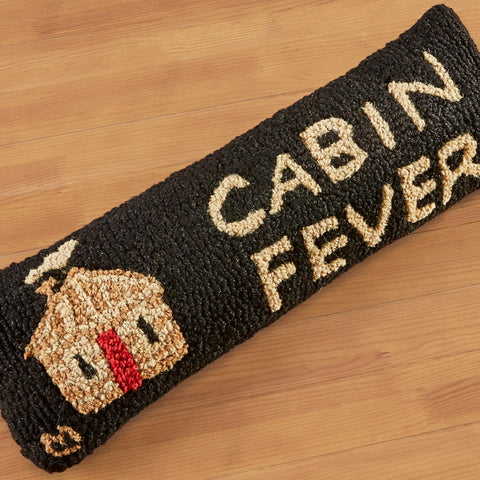 "Chandler 4 Corners 8"" x 24"" Hooked Pillow, Cabin Fever"