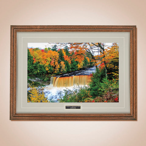 """Autumn at Tahquamenon Falls"" Scenic Print by Mike Growley"