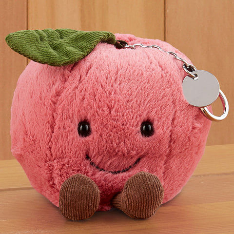 Jellycat Stuffed Bag Charm Keychain - Amuseables Cherry