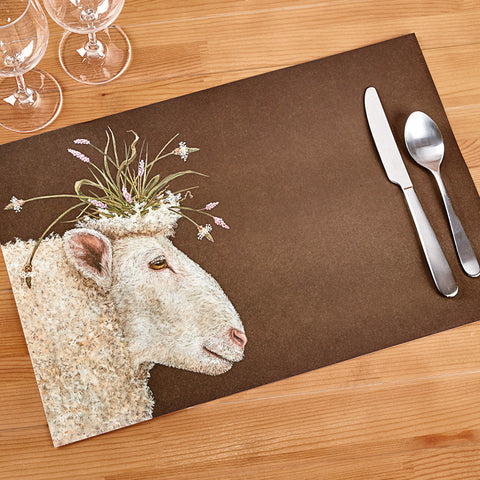 Hester & Cook Paper Placemats, Queen Sheep