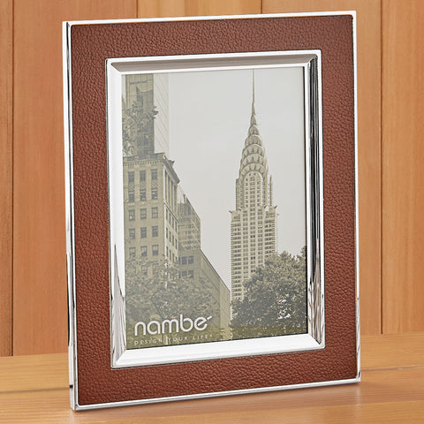 Nambé Novara Leather Picture Frame