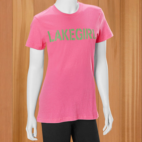 "Lakegirl Women's ""Simply Lakegirl"" Tee - Carmine Rose"