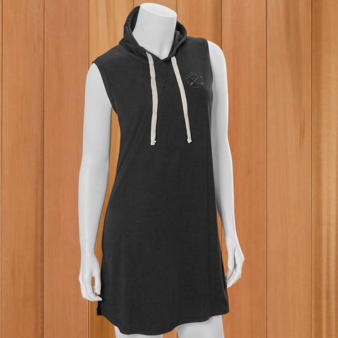Lakegirl Women's Sleeveless Hooded Dress - Black