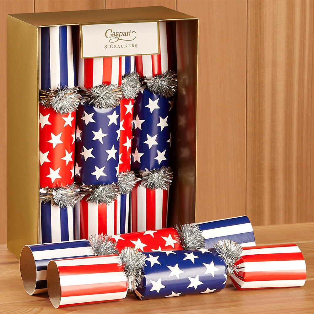 Caspari Celebration Crackers - Red, White and Blue