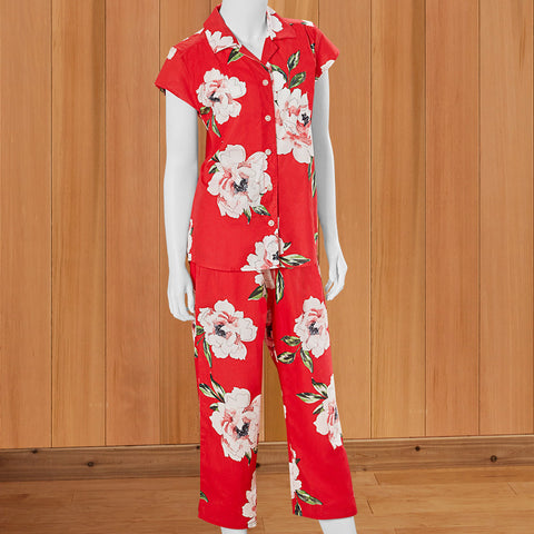 The Cat's Pajamas Women's Luxe Pima Capri Pajama Set