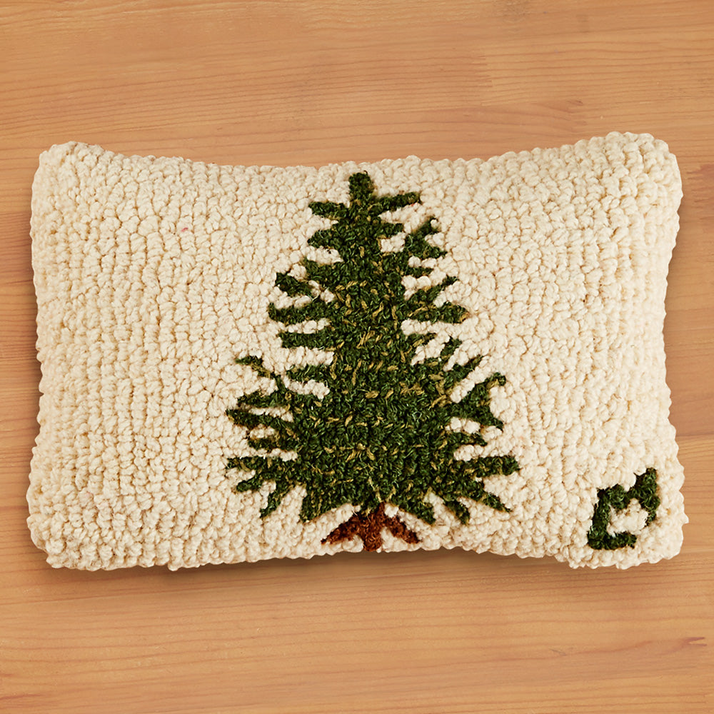 "Chandler 4 Corners 8"" x 12"" Hooked Pillow, Little Tree"