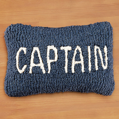 "Chandler 4 Corners 8"" x 12"" Hooked Pillow, Captain"