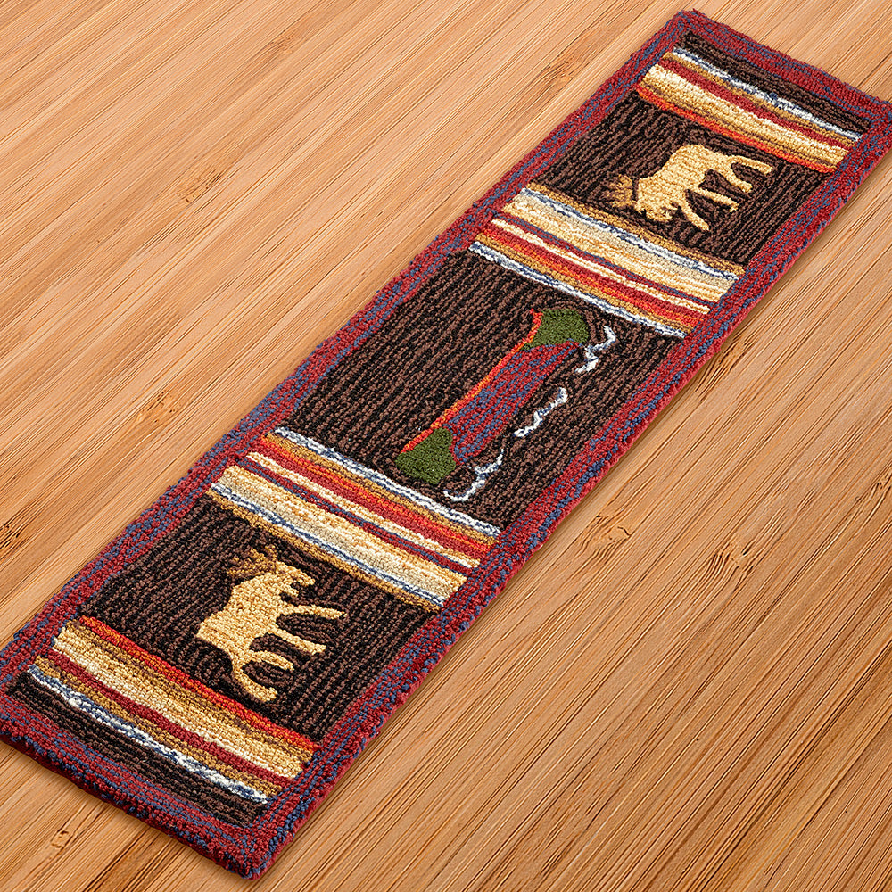 Chandler 4 Corners 1' x 4' Hooked Hearth Rug, Lodge Look