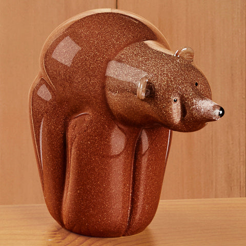 Christopher Sherwin Glass Kodiak Brown Bear Figurine