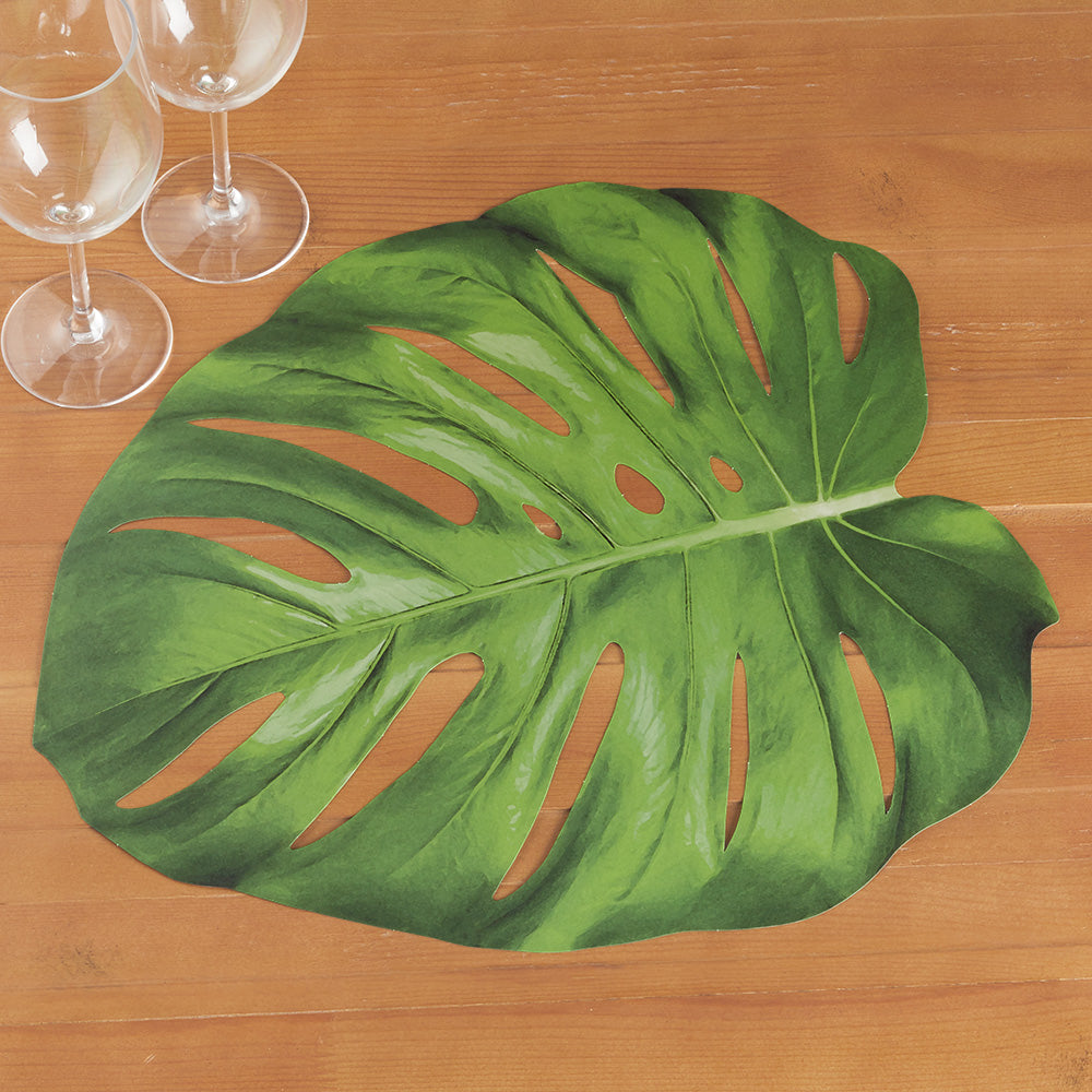 Hester & Cook Paper Placemats, Monstera Leaf