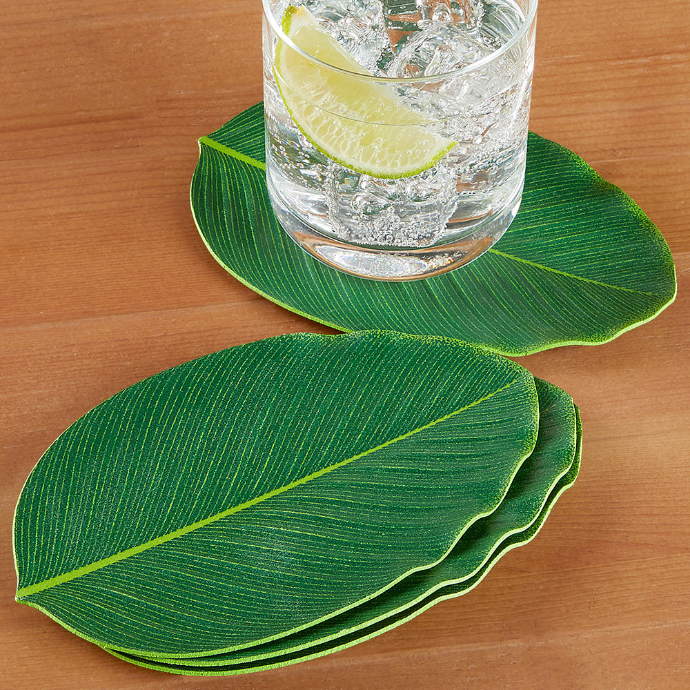 BaliHai™ Leaf Coasters, Set of 4