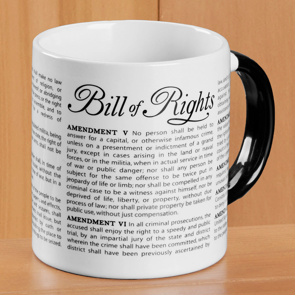 Disappearing Civil Liberties Bill of Rights Mug
