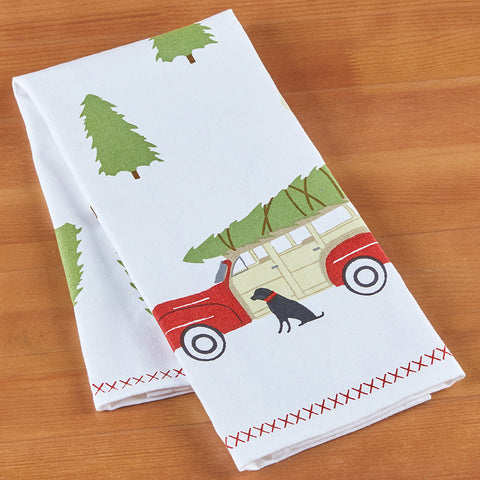 Chandler 4 Corners Kitchen Towel, Tree Farm