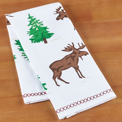 Chandler 4 Corners Kitchen Towel, Moose on the Loose