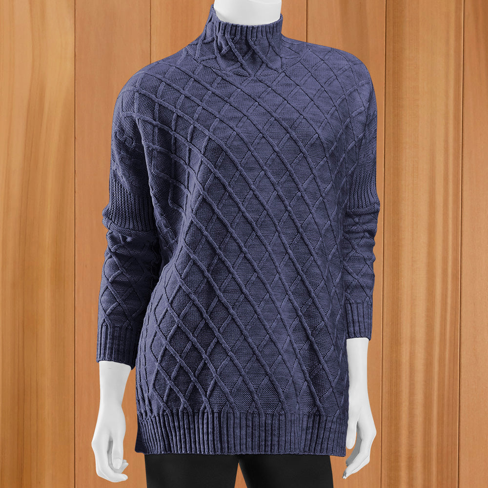 Mer-Sea Lisbon Lattice Front Traveler Sweater