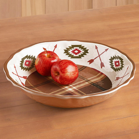 HiEnd Accents Aztec Melamine Serving Bowl