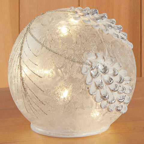 LED Glass Pine Cone Globe