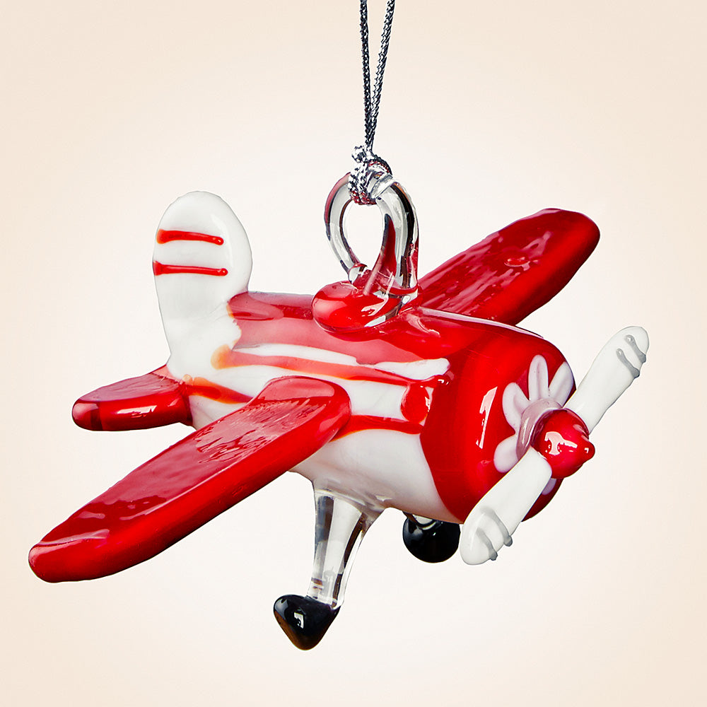 Dynasty Gallery Glass Ornament - Vintage Airplane