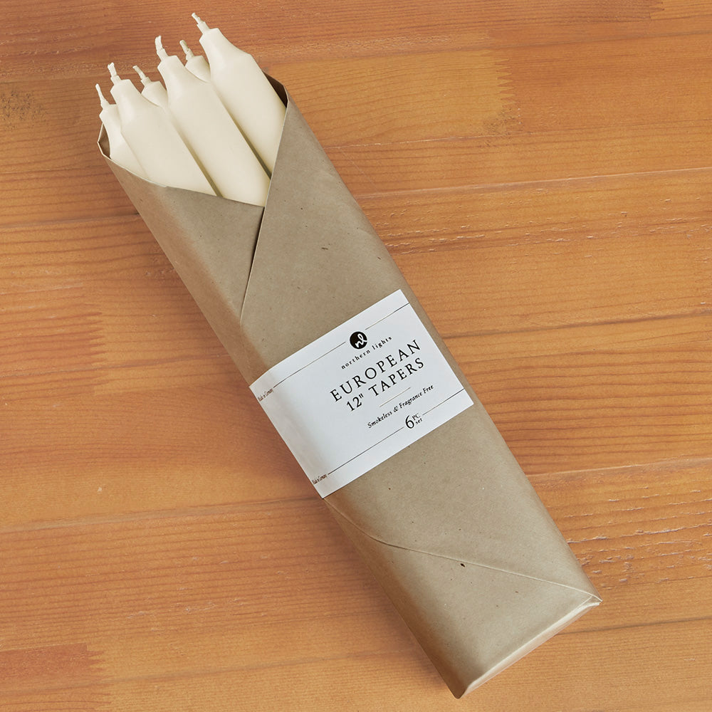 Northern Lights Candles Unscented Taper Candles, Pack of 6