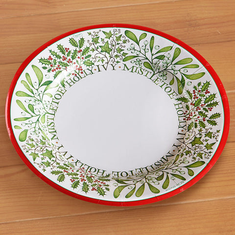 Caspari Paper Plate - Berries and Vines
