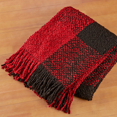 Bedford Cottage Fringed Throw Blanket, Grafton Plaid