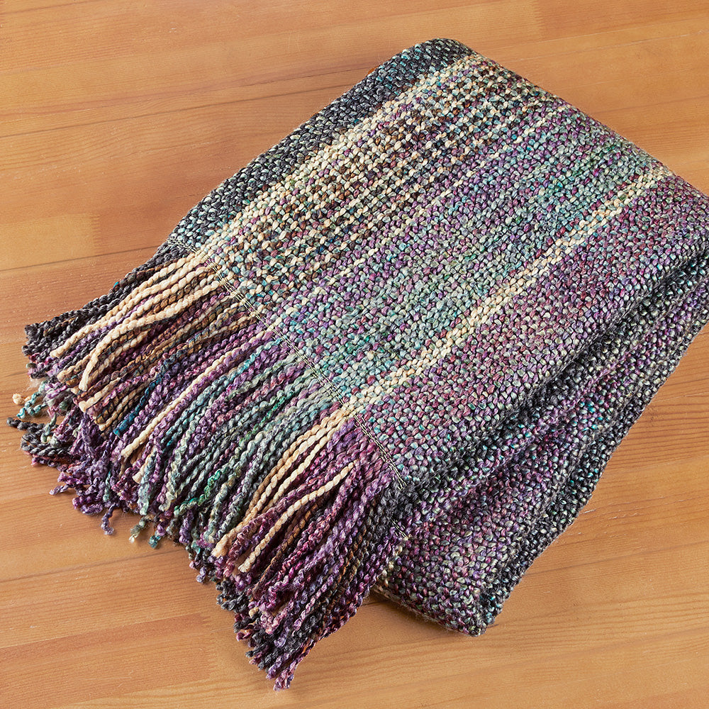Bedford Cottage Fringed Throw Blanket, Dover Stripe