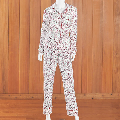 The Cat's Pajamas Women's Pima Knit Pajama Set, Confetti Dot