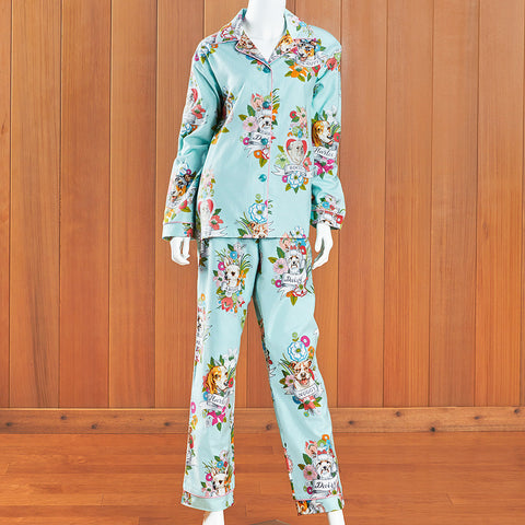 The Cat's Pajamas Women's Flannel Pajama Set, Harlee