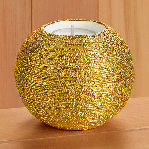 Gold Spun Tealight Candle Holder