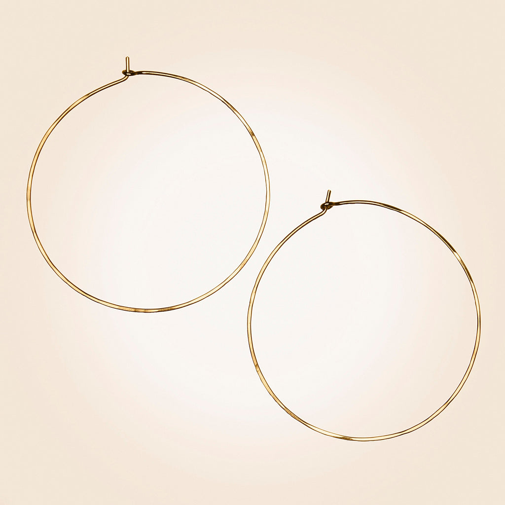 Lotus Jewelry Studio Round Hoop Earrings