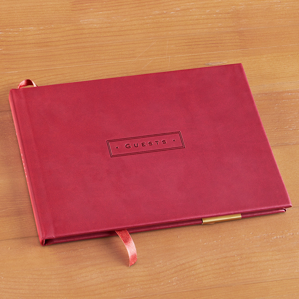 Leather Bound Guest Book