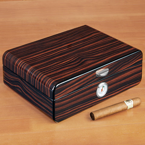 "Brouk & Co ""Lorenzo"" Ebony Cigar Humidor"