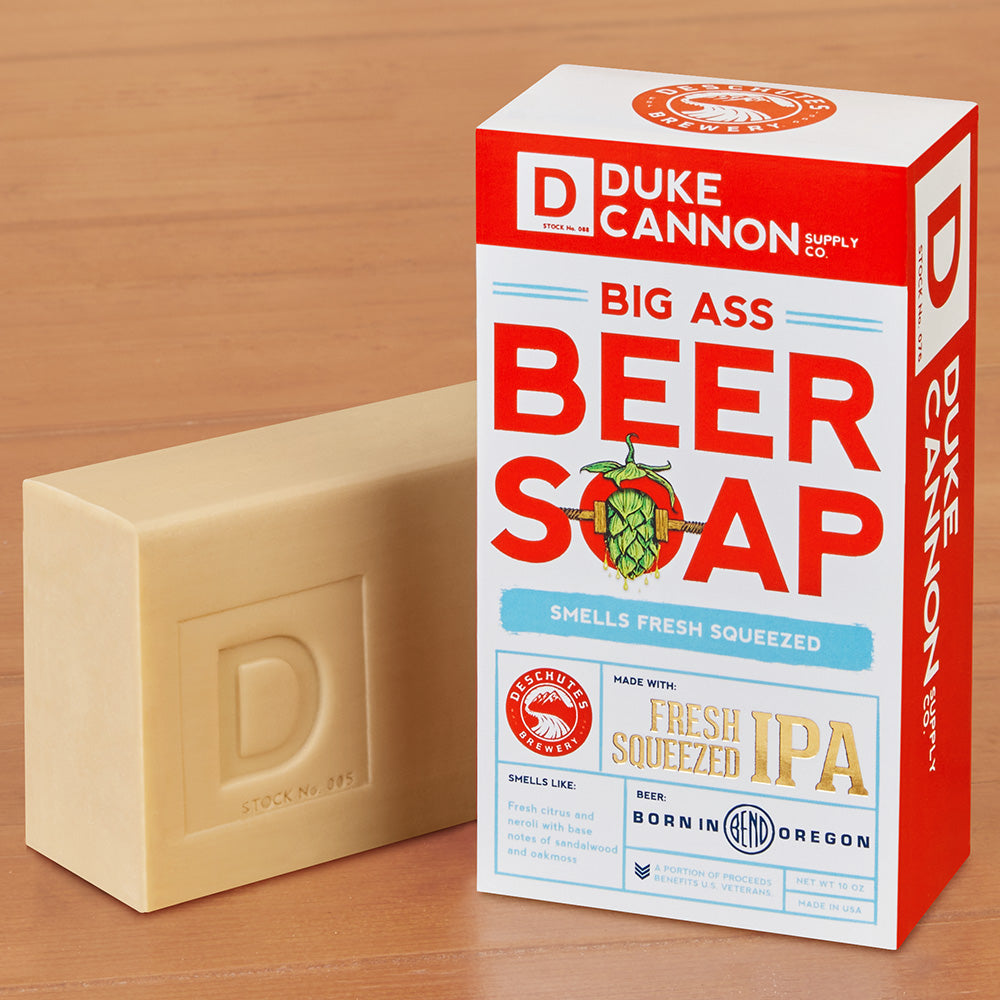 Duke Cannon Big Ass Beer Soap, Deschutes Fresh Squeezed IPA