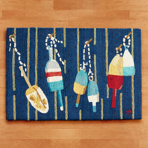 Chandler 4 Corners 2' x 3' Hooked Rug, Buoys