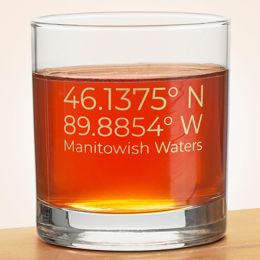 Manitowish Waters Pint & Rocks Glasses