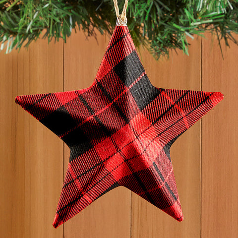 Tartan Plaid Star Ornament
