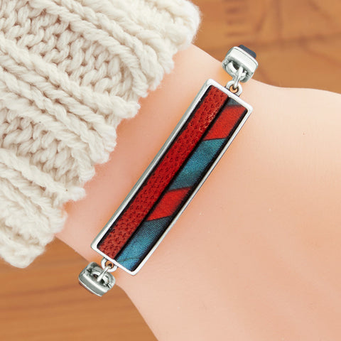 Montana Leather Red Rock Horizon Leather Bracelet