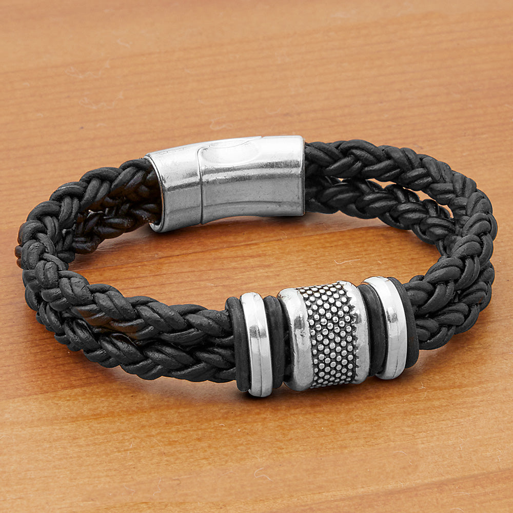 Montana Leather Outrigger Braided Leather Bracelet