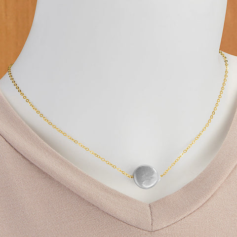 "Hazen & Co. ""Annie"" Coin Pearl Gold Necklace"