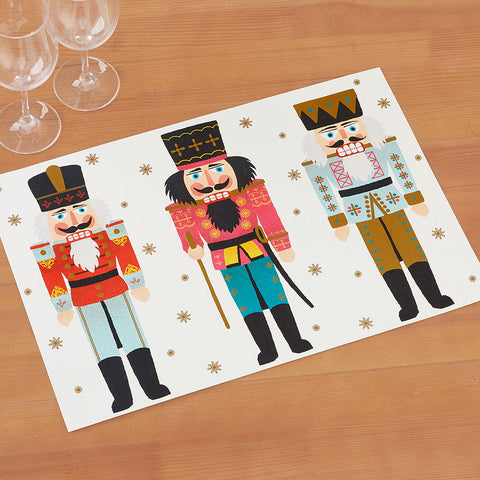Hester & Cook Paper Placemats, Nutcrackers