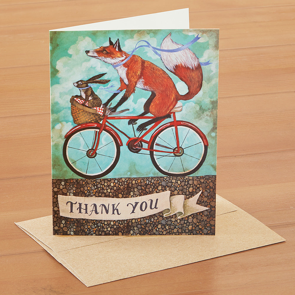 Hester & Cook Thank You Card, Bicycle